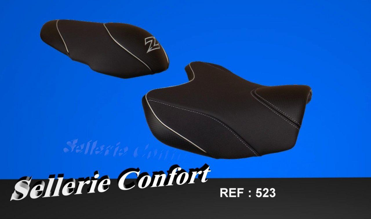 Selle confort pour moto Kawasaki Z750 et Z1000